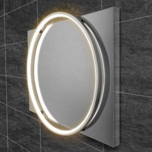Solas Bathroom Mirror HIB Size: 80cm H x 60cm W, Finish: Chrome