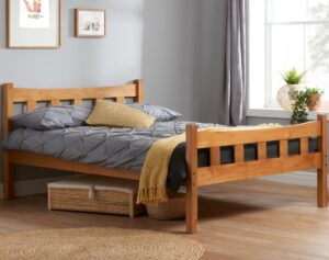 Solid Pine Wooden Bed Frame 4ft6 Double Miami Antique