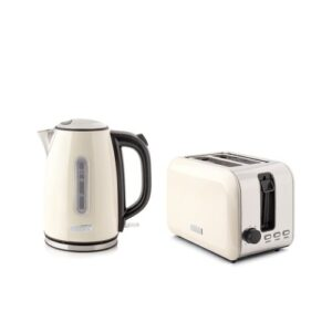Tunbridge 1.7L Stainless Steel Electric Kettle with 2 Slice Toaster Set HADEN
