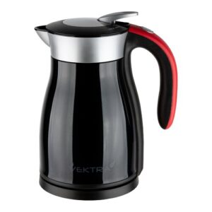 Vacuum Insulated Eco Friendly Stainless Steel Electric Kettle Vektra Colour: Black, Capacity: 1.59 Quarts