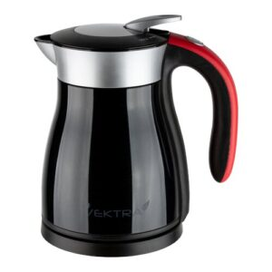 Vacuum Insulated Eco Friendly Stainless Steel Electric Kettle Vektra Colour: Black, Capacity: 1.8 Quarts