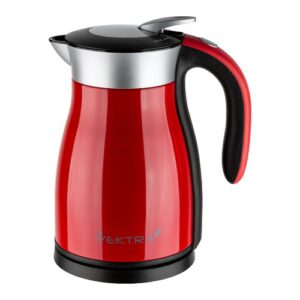 Vacuum Insulated Eco Friendly Stainless Steel Electric Kettle Vektra Colour: Red, Capacity: 1.59 Quarts