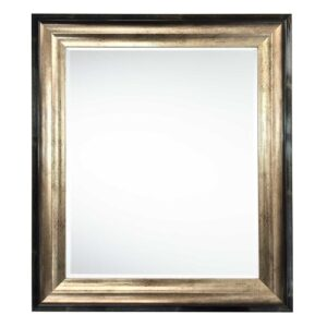 Venus Bevelled Mirror Marlow Home Co. Size: 69cm H x 59cm W, Finish: Black/Gold