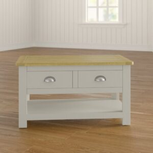 Wellington Painted 2 Drawer Coffee Table with Storage House of Hampton