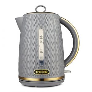 1.7L Stainless Steel Electric Kettle Tower Colour: Grey