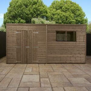 14 Ft. W x 5 Ft. D Solid Wood Garden Shed WFX Utility Installation Included: No