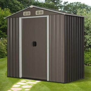 6 ft. W x 4 ft. D Metal Garden Shed WFX Utility