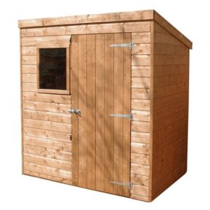 6 ft. W x 4 ft. D Solid Wood Garden Shed WFX Utility Installation Included: Yes
