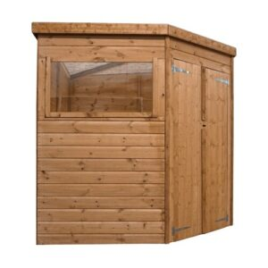 7 ft. W x 7 ft. D Solid Wood Garden Shed WFX Utility