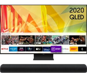 "75"" SAMSUNG QE75Q95TATXXU Smart 4K Ultra HD HDR QLED TV & HW-S60T/XU 4.0 All-in-One Sound Bar Bundle"