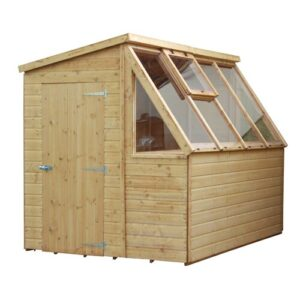 8 Ft. W x 6 Ft. D Tongue and Groove Pent Wooden Garden Shed WFX Utility Installation Included: No
