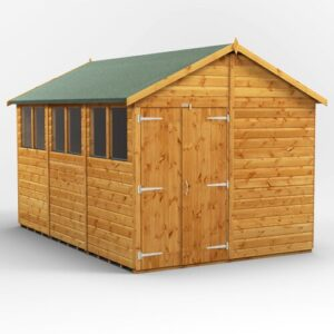 8 ft. W x 12 ft. D Solid Wood Garden Shed WFX Utility