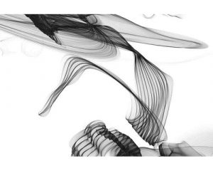 'Abstract Black and White Art' Graphic Art Print on Wrapped Canvas East Urban Home Size: 30cm H x 45cm W