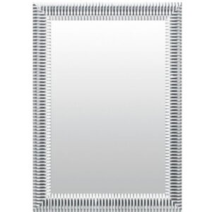 Ahmad Bella Wall Mirror Ophelia & Co. Size: 84cm H x 64cm W, Finish: Silver/White, Mirror: Without facets