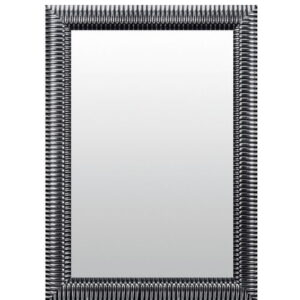 Ahmad Bella Wall Mirror Ophelia & Co. Size: 97cm H x 47cm W, Finish: Black/Silver, Mirror: Without facets