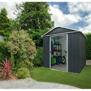 Apex 6 ft. W x 4 ft. D Metal Garden Shed YardMaster