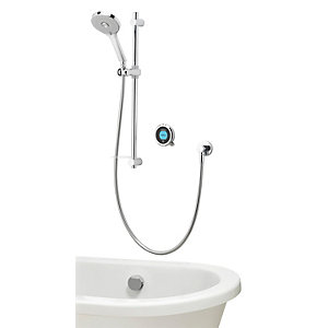 Aqualisa Optic Q Smart Divert Concealed Gravity Pumped Shower with Bath Filler and Adjustable Head