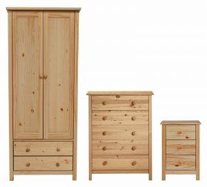 Argos Home Scandinavia 3 Piece 2 Door Wardrobe Set - Pine