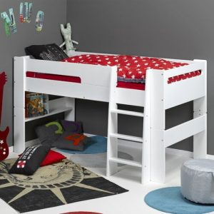 Barrow Single (3') Mid Sleeper Bed Isabelle & Max Colour (Bed Frame): white, Size: 90 x 190