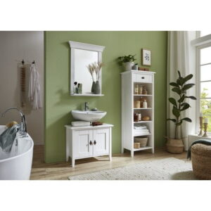 Bergen Bathroom Mirror Brambly Cottage Finish: White