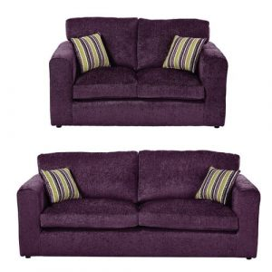Budron 2 Piece Sofa Set ClassicLiving Upholstery: Plum