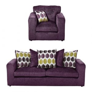 Buford 2 Piece Sofa Set ClassicLiving Upholstery: Plum