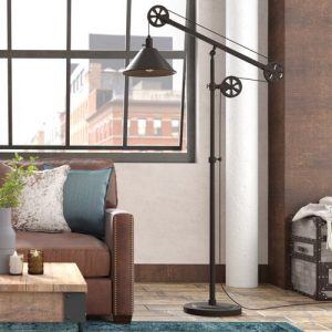 Carlisle 161.3cm Reading Floor Lamp Blue Elephant