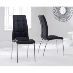 Crovetti Dining Set with 6 Chairs Mercury Row Colour (Chair): Black