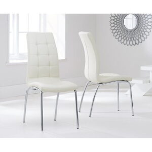 Crovetti Dining Set with 6 Chairs Mercury Row Colour (Chair): Cream