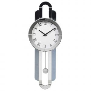 Deco Mirrored Wall Clock