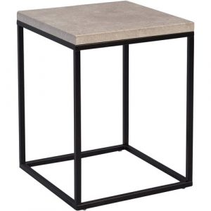 Devos Side Table Mercury Row Frame colour:: Black, Tabletop Colour: Grey