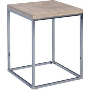 Devos Side Table Mercury Row Frame colour:: Silver, Tabletop Colour: Grey
