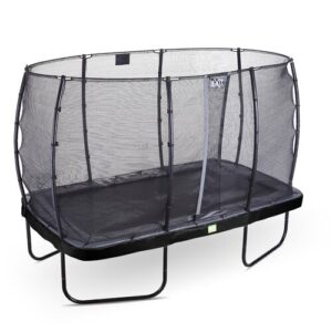 Elegant Backyard Above Ground Trampoline with Safety Enclosure Exit Toys