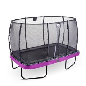 Elegant Premium Backyard Above Ground Trampoline with Safety Enclosure Exit Toys Pad Colour: Purple