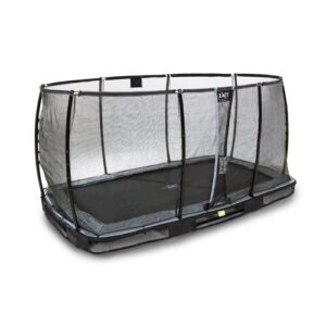 Elegant Premium Backyard In-Ground Trampoline with Safety Enclosure Exit Toys