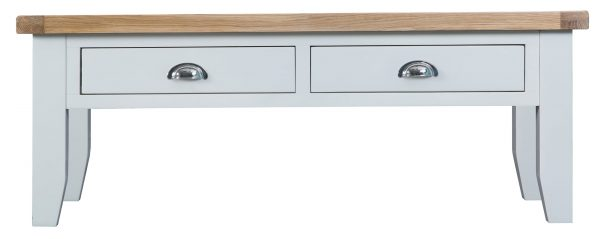Ellen Oak and White Large Coffee Table