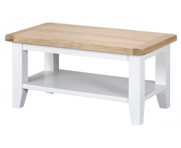 Ellen Oak and White Small Coffee Table