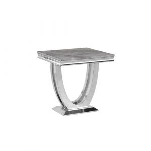 Emmie Marble Side Table Canora Grey