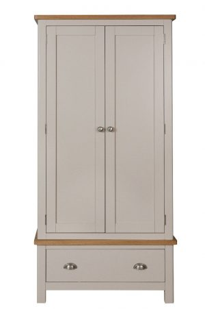 Fay Oak and Grey 2 Door Wardrobe
