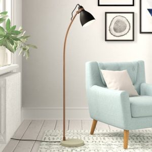 Felipe 145cm Reading Floor Lamp Corrigan Studio Shade Colour: Black
