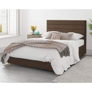 Fia Upholstered Ottoman Bed Rosalind Wheeler Size: Double (4'6), Colour: Chocolate