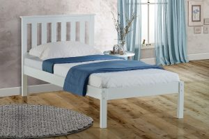 Florida White Low End Single Bed