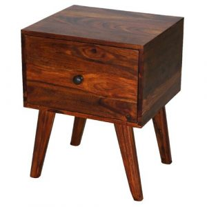 Ganga Side Table with Storage Ethnic Elements
