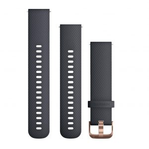 Garmin Quick Release Silicone Watch Band - Blue / Rose Gold