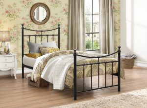 Georgia Black Single Bed