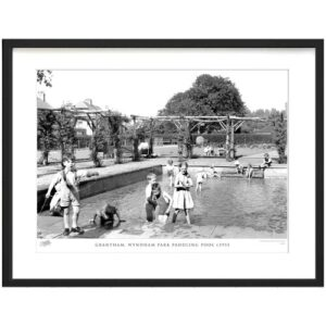 'Grantham, Wyndham Park Paddling Pool C1955' - Picture Frame Photograph Print on Paper The Francis Frith Collection Size: 31.5cm H x 38.8cm W x 2.3cm