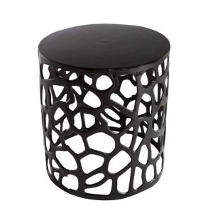 Harwood Side Table Ebern Designs Colour: Black