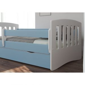 Healy Cabin Bed with Drawer Isabelle & Max Size: European Toddler (80 x 180cm), Colour (Bed Frame): Blue