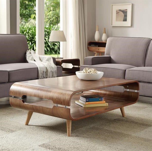 Helsingborg Walnut Open Coffee Table