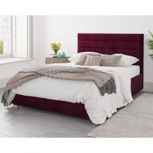 Highclere Upholstered Ottoman Bed Ebern Designs Size: Single (3'), Colour: Marine Blue